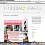 THUNDER IN OUR HEART BLOG MAY 2011